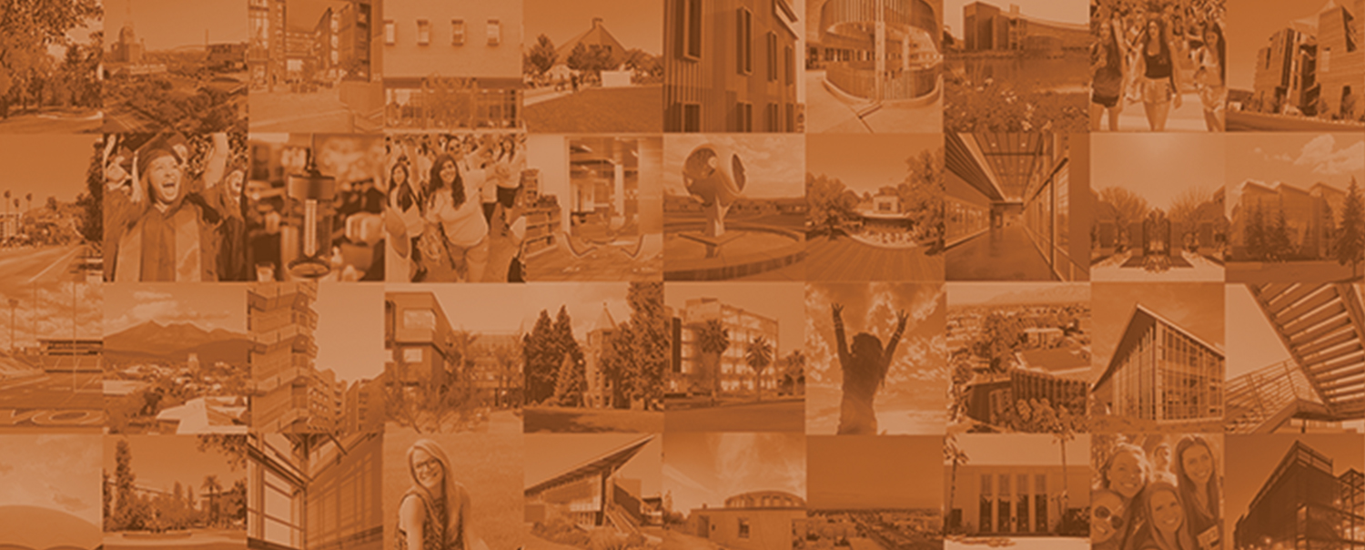 Mosaic of different campus life images from Arizona's public universities